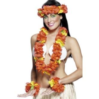 Havajská párty - Havajská sada červená