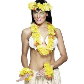 Havajská párty - Havajská sada žlutá