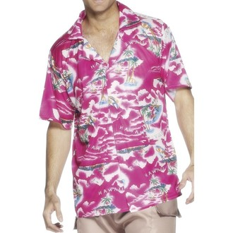 Kostýmy - Havajská košile růžová