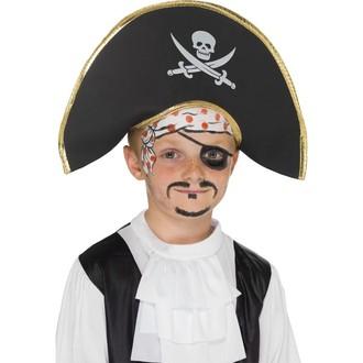 Piráti - Dětský klobouk Pirátský kapitán