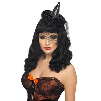 Čarodějnice - Mini klobouk Čarodějnice černý
