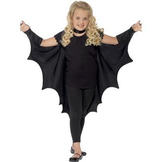 Halloween, strašidelné kostýmy - Dětský plášť Upíří křídla