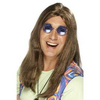 Paruky - Paruka Hippie hnědá