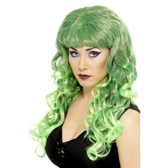 Paruky - Paruka Siren Zelená/černá