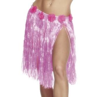 Havajská párty - Havajská sukně růžová 46 cm
