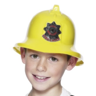Klobouky-čepice-čelenky - Dětská helma Hasič žlutá