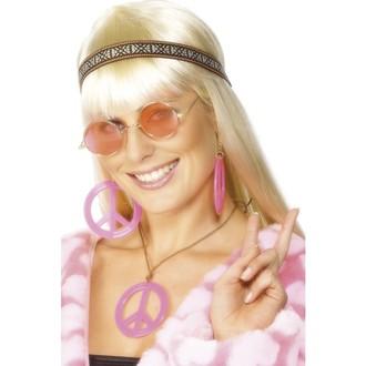 Karnevalové doplňky - Sada Hippiesačka