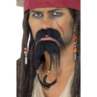 Karnevalové doplňky - Knír a bradka Pirát