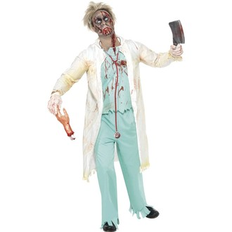 Halloween, strašidelné kostýmy - Strašidelný kostým Zombie doktor