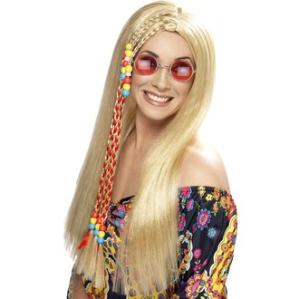 Hippie - Paruka Hippie Party s copem blond