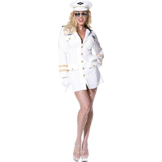 Povolání, řemesla, profese - Dámský kostým Top Gun kapitánka