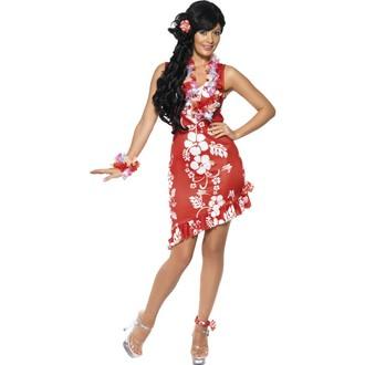 Kostýmy - Kostým Havajská dívka červená