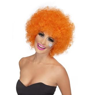 Paruky - Paruka Funky Afro oranžová
