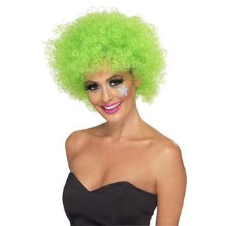 Paruky - Paruka Funky Afro zelená