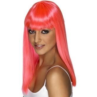 Paruky - Paruka Glamourama neonově růžová