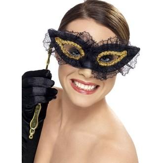 Masky - Škraboška Fastidious černá