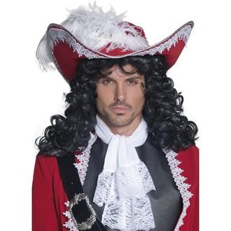 Piráti - Klobouk Pirátský kapitán červený