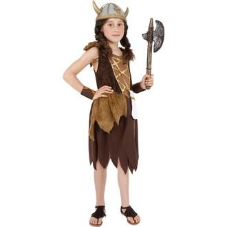 Historické kostýmy - Dětský kostým Vikingská dívka