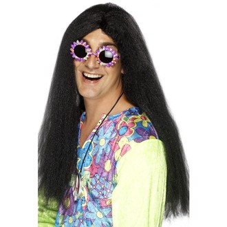 Hippie - Paruka Hippie černá ll