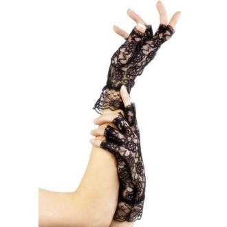 Karnevalové doplňky - Krajkové rukavice dámské bez prstů