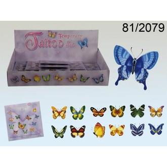 Karnevalové doplňky - Tetování Motýli 13 obrázků