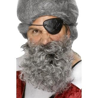 Karnevalové doplňky - Plnovous Pirát šedý