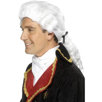 Historické kostýmy - Paruka Soudce Bílá