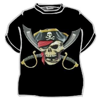 Piráti - Tričko Pirátská lebka a šavle