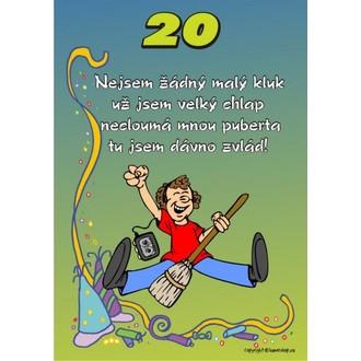 Zábavné předměty - Certifikát 20 pro muže