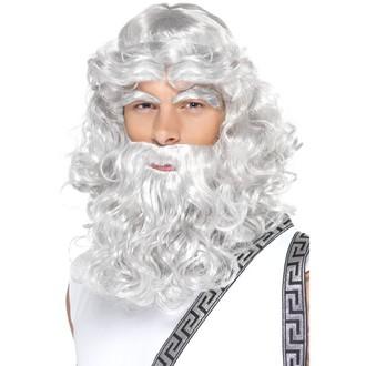 Paruky - Paruka s vousy a obočím Zeus