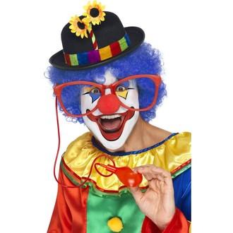 Karnevalové doplňky - Stříkací brýle klaun