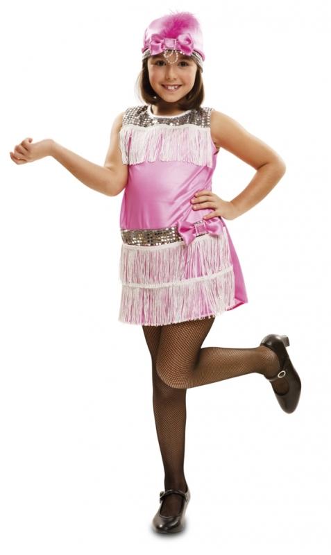 Dětský kostým Charleston růžový - Maxi-karneval.cz 33beeadb03a