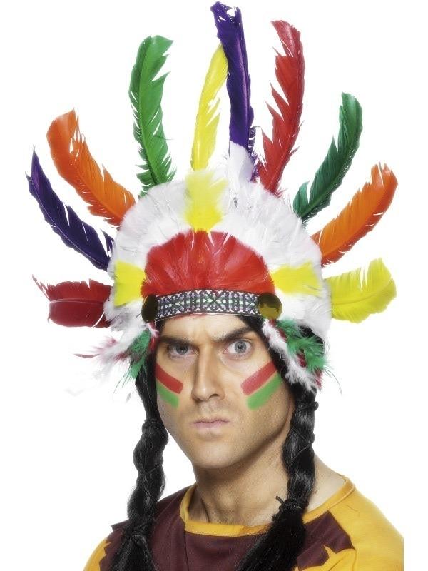 indiánská čelenka pro dospělé - Maxi-karneval.cz 3f85027162