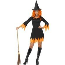 Kostým Čarodějnice oranžová/černá