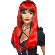 Paruka Bewitching červená/černá