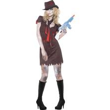 Dámský kostým Zombie gangsterka