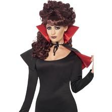 Plášť mini červeno černý