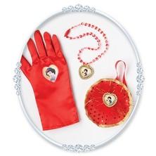 Kabelka, náhrdelník a rukavice Sněhurka