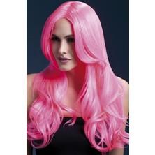 Paruka Khloe neonová růžová