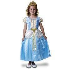 Dětský kostým Princezna deluxe,modrá