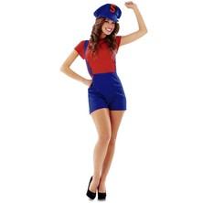 Kostým Super Lady červená