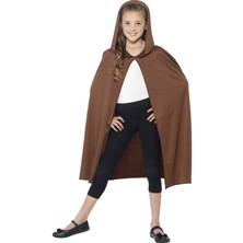 Dětský plášť hnědý s kapucí