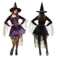 Kostým Čarodějnice fialová