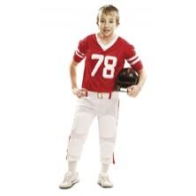 Dětský kostým Hráč ragby červený