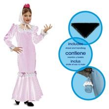 Dětský kostým Madridská dívka bílá