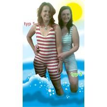 Retro plavky dámské široké pruhy