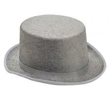 Klobouk Cylindr stříbrný