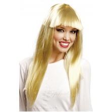 Paruka dlouhá blond s ofinou