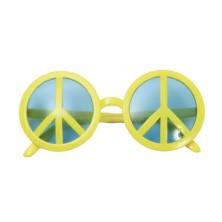 Brýle Hippie symbol žluté