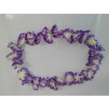 Havajský květinový věnec - fialový